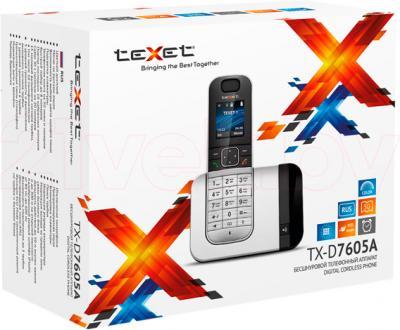 Беспроводной телефон TeXet TX-D7605A (Black-Silver) - упаковка