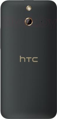 Смартфон HTC One Dual / E8 (серый) - вид сзади