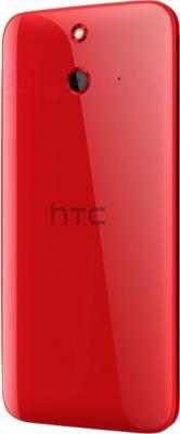 Смартфон HTC One Dual / E8 (красный) - вид сзади