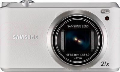 Компактный фотоаппарат Samsung WB350F (Black-Silver) - вид спереди