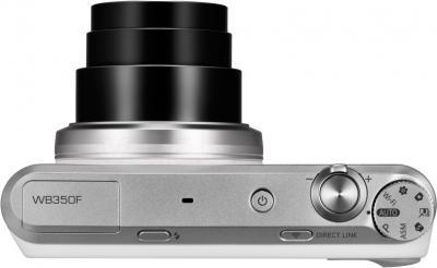 Компактный фотоаппарат Samsung WB350F (Black-Silver) - вид сверху