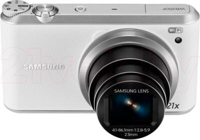 Компактный фотоаппарат Samsung WB350F (Black-Silver) - общий вид