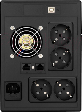ИБП Mustek PowerMust 2012 LCD - вид сзади