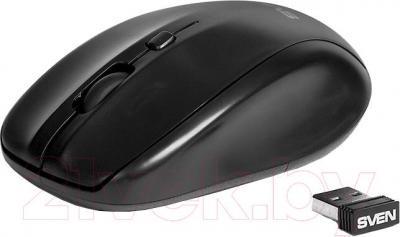 Мышь Sven RX-305 (черный) - вид в проекции