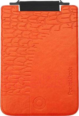 Обложка для электронной книги PocketBook PBPUC-5-ORBC-BD (черно-оранжевый) - общий вид