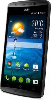 Смартфон Acer Liquid E700 / HM.HF9EE.003 (черный) - вполоборота