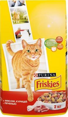 Корм для кошек Friskies С мясом, курицей и печенью (10 кг) - общий вид