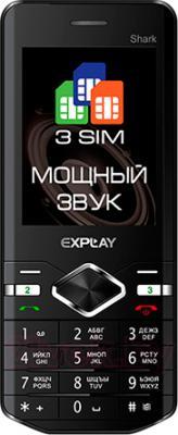 Мобильный телефон Explay Shark (черный) - общий вид