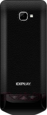 Мобильный телефон Explay Shark (черный) - вид сзади