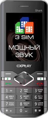 Мобильный телефон Explay Shark (Gray) - общий вид