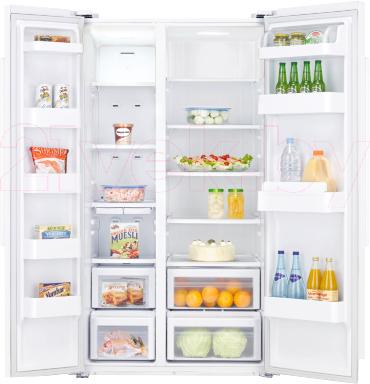 Холодильник с морозильником Samsung RSA1SHWP1/BWT - внутренний вид
