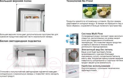Холодильник с морозильником Samsung RSA1SHWP1/BWT