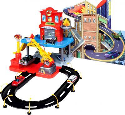 Игровой набор Bburago Пожарная станция 2-х уровневая Стрит Файер / 18-30043 - общий вид