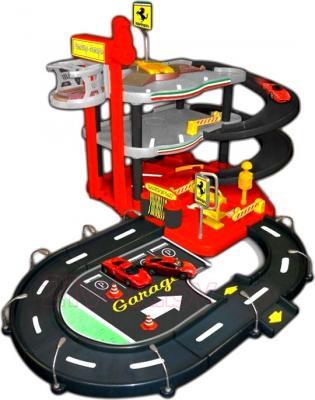 Игровой набор Bburago Паркинг с 4 машинками Феррари (18-31218) - общий вид