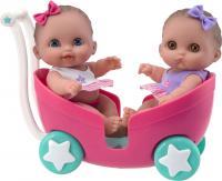 Кукла-младенец JC Toys Пупсы-близняшки в коляске (16982) -