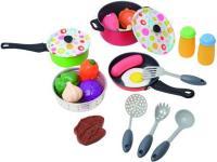 Детская кухня PlayGo Металлический набор посуды (6988) -
