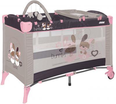 Кровать-манеж Lorelli Arena 2 Layers Plus (Beige Bunnies) - общий вид