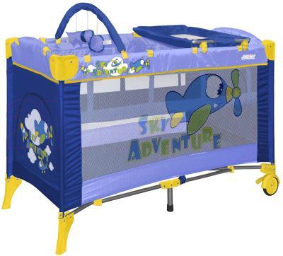 Кровать-манеж Lorelli Arena 2 Layers Plus (Blue Sky Adventure) - общий вид