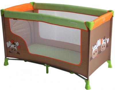 Кровать-манеж Lorelli Nanny 1 (Cow Orange Green) - общий вид