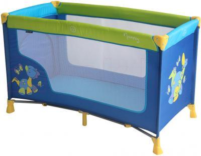 Кровать-манеж Lorelli Nanny 1 (Dinos Blue) - общий вид