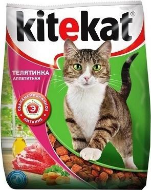 Корм для кошек Kitekat Аппетитная телятинка (2.2 кг) - общий вид