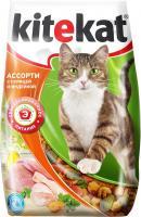 Корм для кошек Kitekat Ассорти с курицей и индейкой (2.2 кг) -