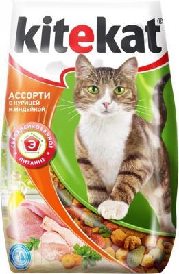 Корм для кошек Kitekat Ассорти с курицей и индейкой (2.2 кг) - общий вид