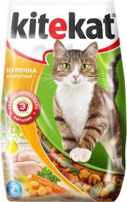 Корм для кошек Kitekat Аппетитная курочка (2.2 кг) - общий вид