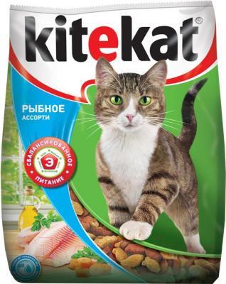 Корм для кошек Kitekat Рыбное ассорти (2.2 кг) - общий вид