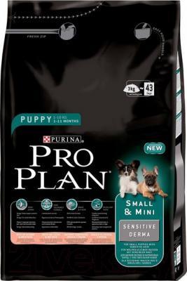 Корм для собак Pro Plan Puppy Small & Mini Sensitive Derma полнорационный - общий вид