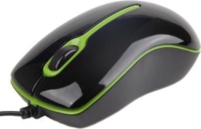 Мышь Gembird MUS-U-004-G (черно-зеленый) - вид сбоку