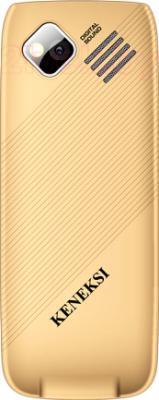 Мобильный телефон Keneksi Q5 (золотой) - вид сзади