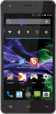 Смартфон TeXet X-slim / ТМ-4782 (черный) - общий вид