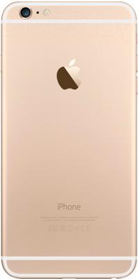 Смартфон Apple iPhone 6 Plus (16GB, золотой) - вид сзади