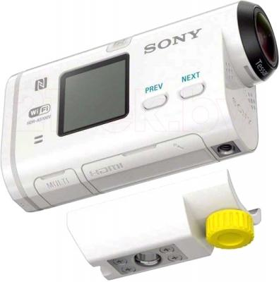Экшн-камера Sony HDR-AS100VR (комплект Remote) - с креплением