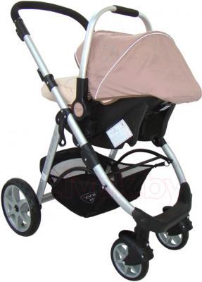 Детская универсальная коляска Pierre Cardin PS687 3 в 1 (коричневый) - с автокреслом