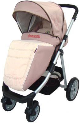 Детская универсальная коляска Pierre Cardin PS687 3 в 1 (коричневый) - с чехлом для ног