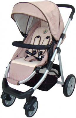 Детская универсальная коляска Pierre Cardin PS687 3 в 1 (коричневый) - прогулочный вариант