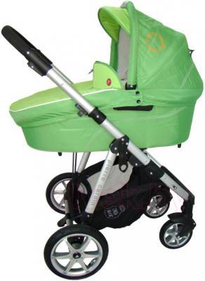 Детская универсальная коляска Pierre Cardin PS687 3 в 1 (зеленый) - люлька