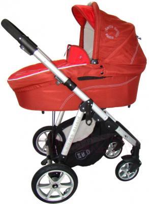 Детская универсальная коляска Pierre Cardin PS687 3 в 1 (красный) - люлька