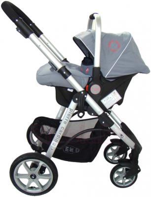 Детская универсальная коляска Pierre Cardin PS687 3 в 1 (серый) - с автокреслом