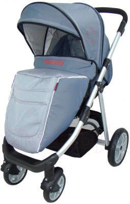 Детская универсальная коляска Pierre Cardin PS687 3 в 1 (серый) - с чехлом на ножки