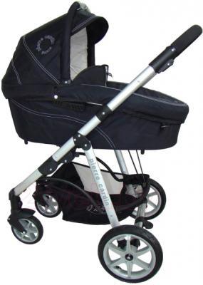 Детская универсальная коляска Pierre Cardin PS687 3 в 1 (черно-бежевый) - люлька