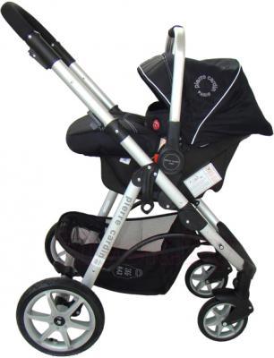 Детская универсальная коляска Pierre Cardin PS687 3 в 1 (черно-бежевый) - с автокреслом