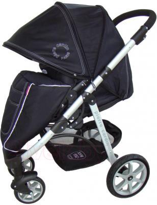 Детская универсальная коляска Pierre Cardin PS687 3 в 1 (черно-бежевый) - с опущенным козырьком