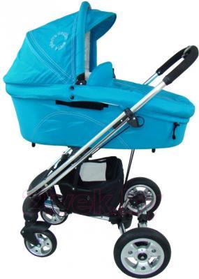 Детская универсальная коляска Pierre Cardin PS870 3 в 1 (голубой) - люлька