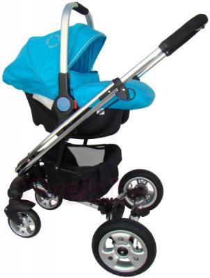 Детская универсальная коляска Pierre Cardin PS870 3 в 1 (голубой) - с автокреслом