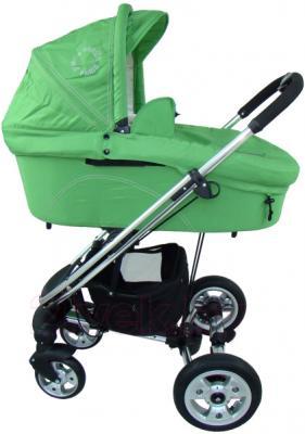 Детская универсальная коляска Pierre Cardin PS870 3 в 1 (зеленый) - люлька