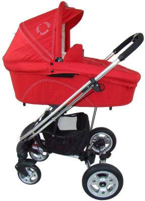 Детская универсальная коляска Pierre Cardin PS870 3 в 1 (красный) - люлька