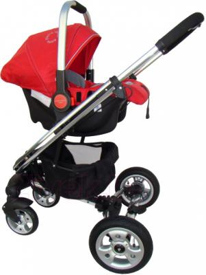 Детская универсальная коляска Pierre Cardin PS870 3 в 1 (красный) - с автокреслом